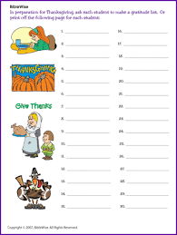 gratitude lists sunday school korner biblewise