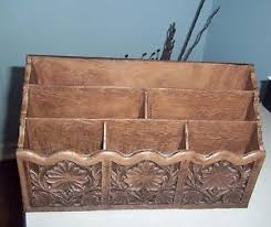 Desk Letter Organizer Vintage 70 S Lerner Desk Caddy Letter Holder Faux Wood Organizer