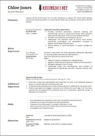 social work resume templates social work resume sample writing