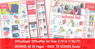 Office Depot by Officedepot Officemax Ad Scan For 7 9 To 7 15 17 Supply