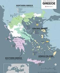 Greek Wine Cellars - the wine regions of greece maps u2013 wine cellars by cellarium