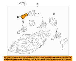 hyundai elantra headlight bulb hyundai oem 13 15 elantra headlight headl bulb 1864955009s ebay