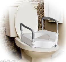 siège toilette surélevé siège de toilette surélevé avec bras d appui santé et besoins