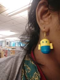 minion earrings theepz crafts quilled minion earrings