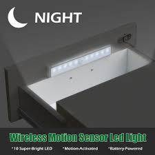 Schlafzimmer Schrank Lampen Großhandel Super Helle 10 Led Wireless Pir Auto Motion Sensor