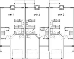 row home floor plans popular row house triplex design 3 bedroom 2 5 bath one car gar