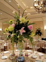 tall flower arrangements for weddings wedding reception elevated