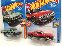 nissan hotwheels lot of 2 wheels 2018 datsun 620 u0026 82 nissan skyline r30