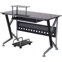 Black Glass Computer Desk Flash Furniture Glass Computer Desk Roselawnlutheran
