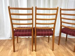 Teak Dining Chair Set Of Six Svegards Markaryd High Back Teak Dining Chairs Sold