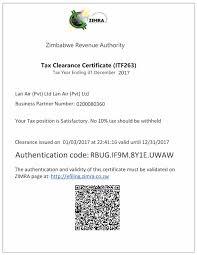 clearance certificate sample tax clearance certificate