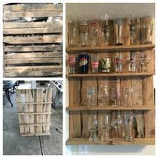 pint glass display cabinet pallet pint glass display case finished projects pinterest