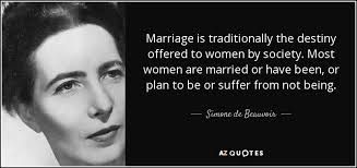 wedding quotes destiny de beauvoir quote marriage is traditionally the destiny