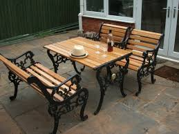 cast iron outdoor table garden furniture in cast iron for a noble garden atmosphere hum ideas