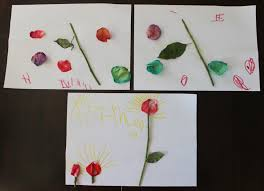 flower craft idea for kids creating art with flowers finlee u0026 me