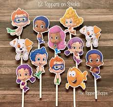 guppie cake toppers guppies cupcake toppers cake toppers die cuts