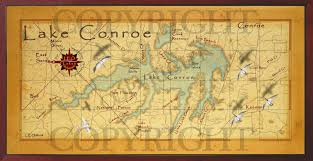 Map Of Conroe Texas Baitrageous Map Of Beautiful Lake Conroe In East Texas