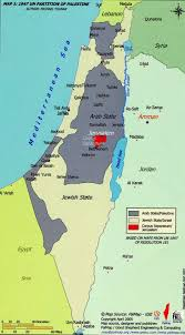 Un Map Partitioned Palestine 1947 Maps 1948