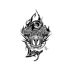 valar morghulis tribal tattoo concept 1 by iartista