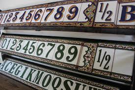 elegant ceramic u0026 aluminum address plaques decorative address