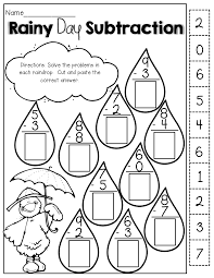rainy day subtraction best of spring easter passover plants