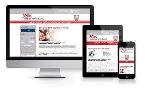 bank and financial website design website henry state bank