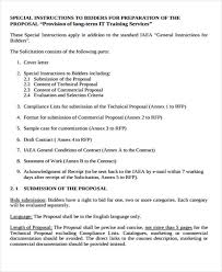 training business proposal templates 10 free word pdf format