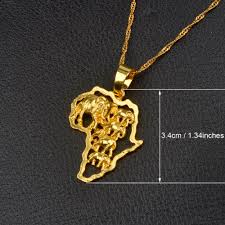 gold pendant necklace jewelry images Anniyo 9 style africa map pendant necklace for women men silver jpg