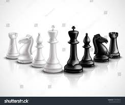 realistic chess game pieces 3d icons stock vector 278759624