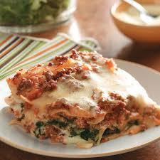 thanksgiving lasagna recipe ground beef spinach alfredo lasagna recipe taste of home