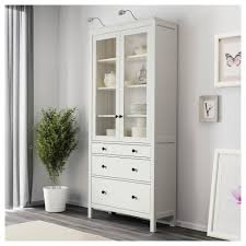 glass cabinet hemnes glass door cabinet with 3 drawers white stain ikea