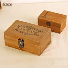 Vintage Desk Organizers Aiban Vintage Desk Organizer Storage Box Wooden Comestic Makeup