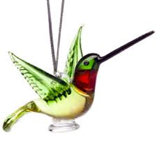 glass hummingbird ornament animal emporium figurines gifts