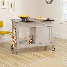 mobile kitchen islands sauder original cottage mobile kitchen island in