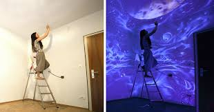glow in the dark l when the lights go out my glowing murals turn these rooms into