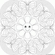 free butterfly mandala coloring pages many cliparts