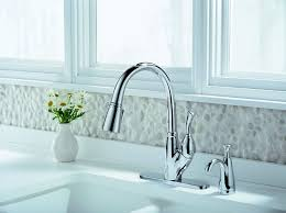 Delta Chrome Kitchen Faucet by Delta 989 Dst Allora Single Handle Pull Down Kitchen Faucet With