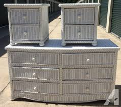 white wicker bedroom set white wicker bedroom furniture dresser and 2 nightstands for