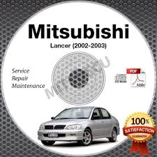 2002 2003 mitsubishi lancer service manual cd repair workshop es
