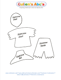 use this scarecrow pattern to print out and cut out i would cut