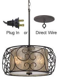 Drum Pendant Light Mica Bronze Iron Drum Pendant Light Plug In Lamp Shade Pro