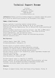 Technical Support Resume Template Resume It Support Technical Support Engineer Resume Desktop