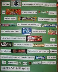 50th birthday candy card followpics co word u0026 sweet letters