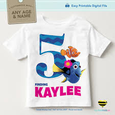 finding dory birthday shirt printable iron on transfer finding