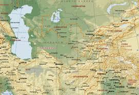map central central asia maps eurasian geopolitics