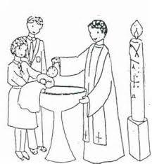 depiction jesus baptism coloring pages invitation card