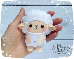 Easter Lamb Decorations by White Bunny Felt Ornament Easter Decor Ornaments Easter Cute