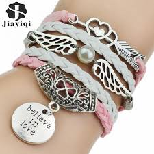 leather bracelet fashion images 2018 new fashion leather bracelets bangles silver owl tree love jpeg