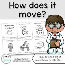 Book Free Download How Does It Move A Sight Word Mini Book Free Download Tpt