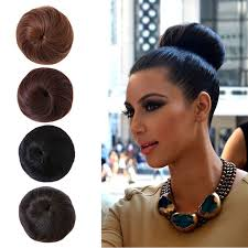black hair buns 1pc hair bun chignon extension hairpieces big hair bride bun ring
